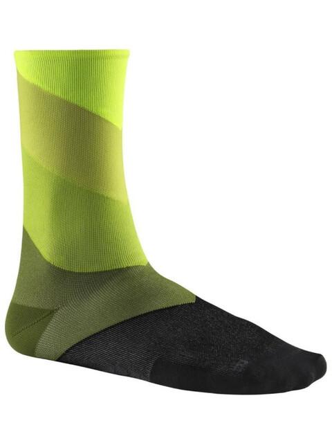 Mavic Graphic Stripes Socks Safety Yellow/Catus